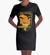 ° METAL GEAR SOLID ° Fox Hound Rust Logo Graphic T-Shirt Dress