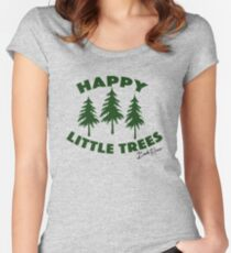 Happy Little Trees Women's Fitted Scoop T-Shirt