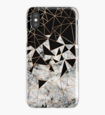 Marble polygon pattern iPhone Case/Skin