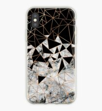 Marble polygon pattern iPhone Case