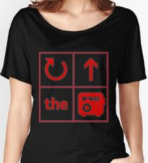 Turn Up the Radio Grid Women's Relaxed Fit T-Shirt
