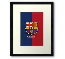 FC barcelona Framed Print