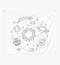 Space Tumblr Drawing Wall Tapestry
