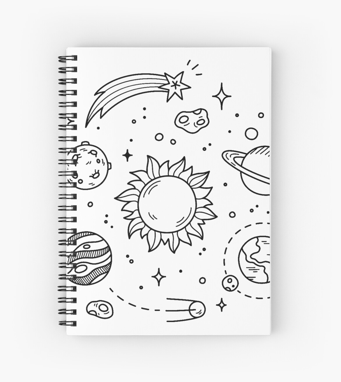 Space Tumblr Drawing Spiral Notebooks By Glennstevens Redbubble
