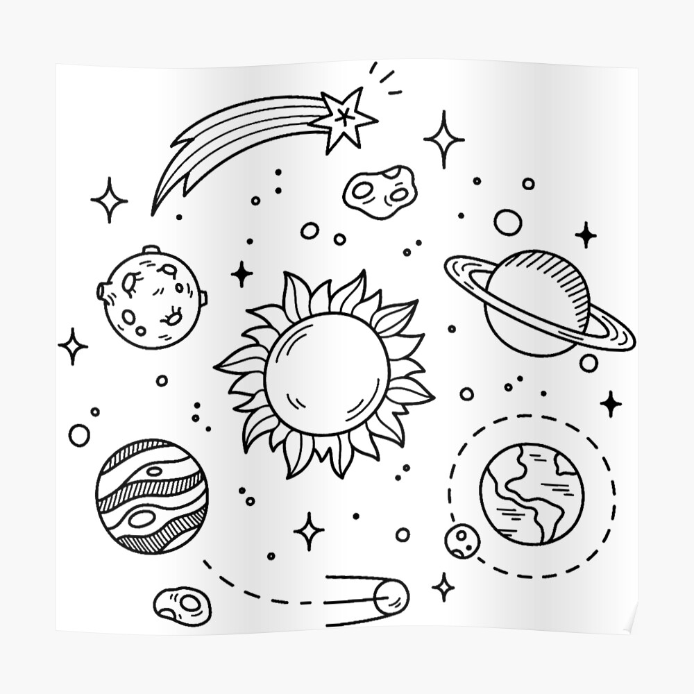 It's just a graphic of Mesmerizing Tumblr Space Drawing