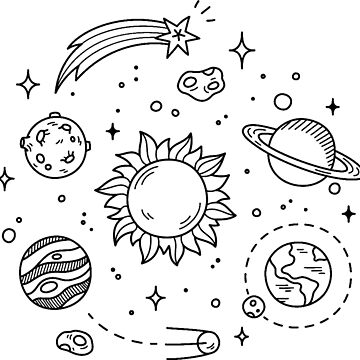 Space Tumblr Drawing by GlennStevens