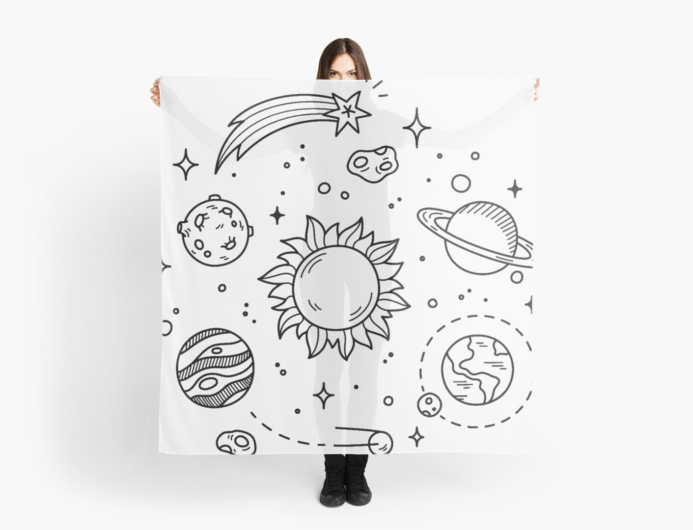 Kids Space Wall Stickers Quot Space Tumblr Drawing Quot Scarves By Glennstevens Redbubble