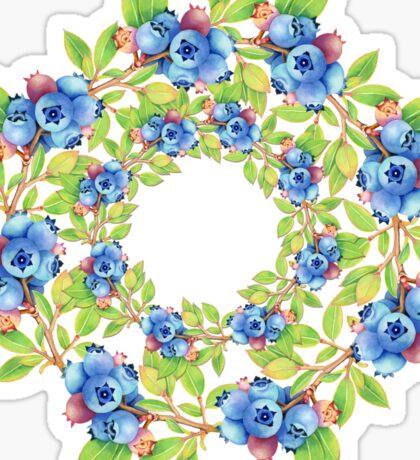 Swirling Maine Blueberries Sticker