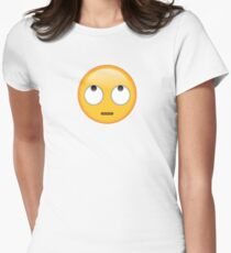 rolling eyes emoji Womens Fitted T-Shirt