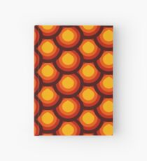 Yellow and orange honeycomb pattern Hardcover Journal