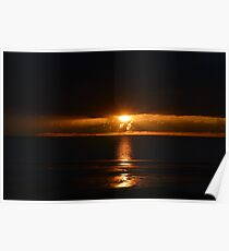 A Black Sunset, On Blackpool Beach Poster