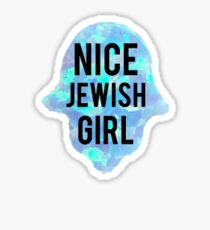 Nice Jewish Girl Sticker