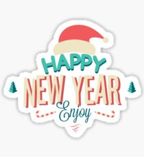New Year enjoy  Sticker