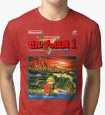 Legend of Zelda - Japanese Cover  Tri-blend T-Shirt