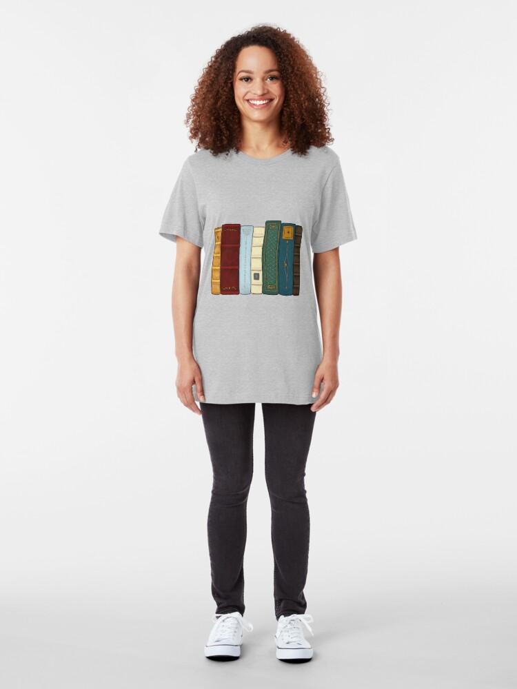 Vista alternativa de Camiseta ajustada Amo la literatura