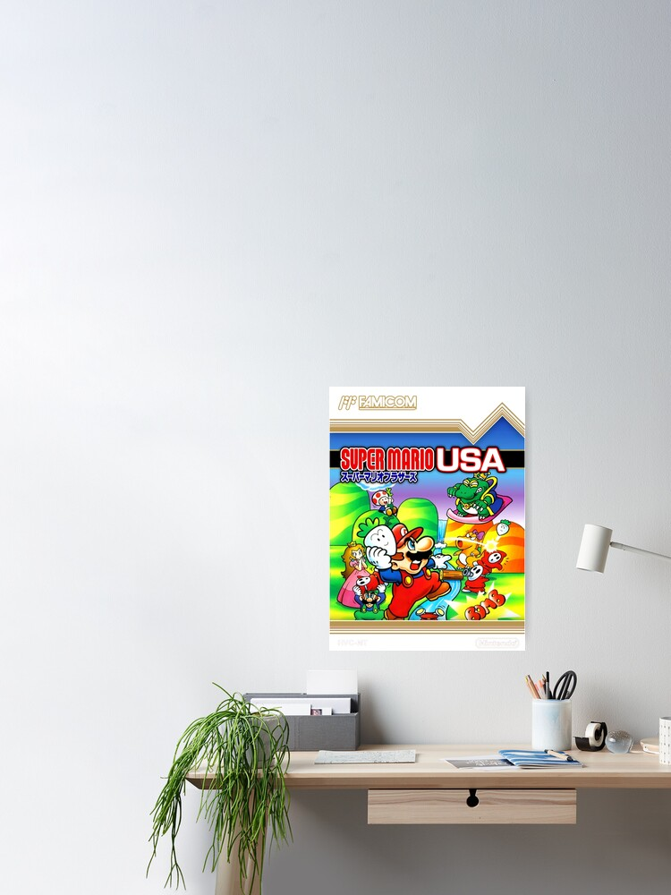 Alternate view of NES Super Mario Brothers 2 - Japanese Cover  Poster
