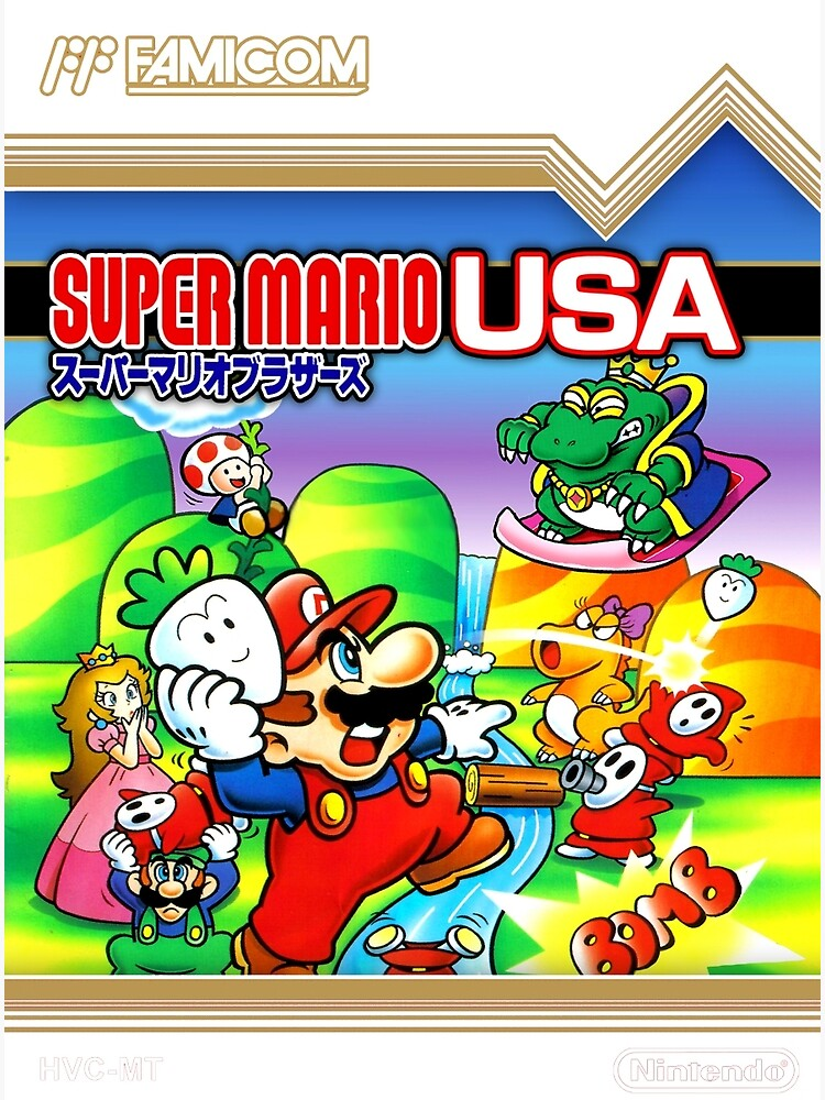NES Super Mario Brothers 2 - Japanese Cover  by Icepatrol