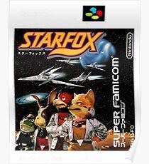 Starfox japanische Abdeckung Poster