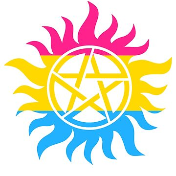 Supernatural Anti-Possession Pansexual Flag by geekoutgalaxy