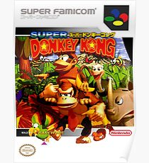 Donkey Kong Country Japanese Cover Poster