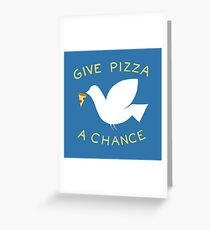 War & Pizza Greeting Card