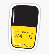 Yellow Nail Polish Sticker