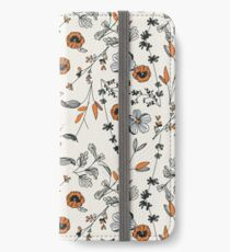 Orange Flower Pattern iPhone Wallet/Case/Skin