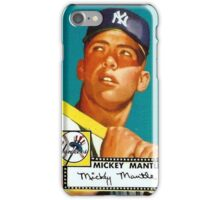 Vintage Mickey Mantle Topps Rookie Card iPhone Case/Skin