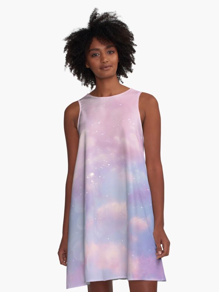 Pink sky  A-Line Dress Front