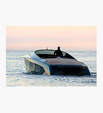 Aston Martin Power Boat on the Water in Monaco Photographic Print