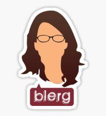 Liz Lemon - Blerg Sticker