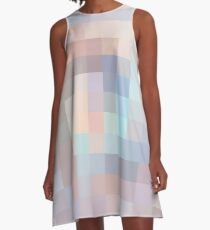 Pastel tones mosaic A-Line Dress