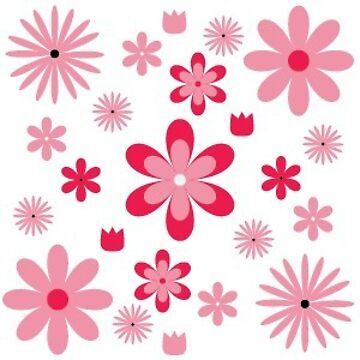 Tiny Patterns - Pink Flowers by HalfBlueStar