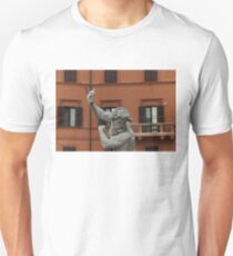 Neptune and the Dove - Fountain of Neptune, Piazza Navona, Rome, Italy T-Shirt