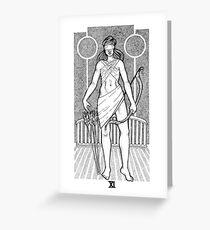 Tarot: Justice  Greeting Card