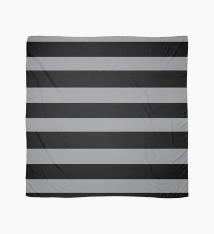 Black and Grey horizontal stripes - Classic striped pattern by Cecca Designs Scarf