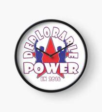 DEPLORABLE POWER Clock