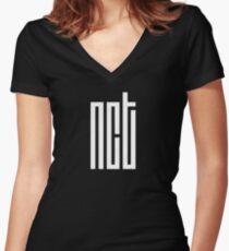 NCT - Logo Women's Fitted V-Neck T-Shirt