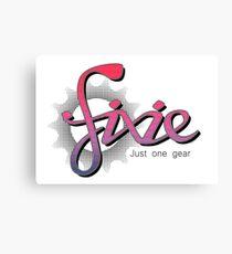 Fixie Canvas Print