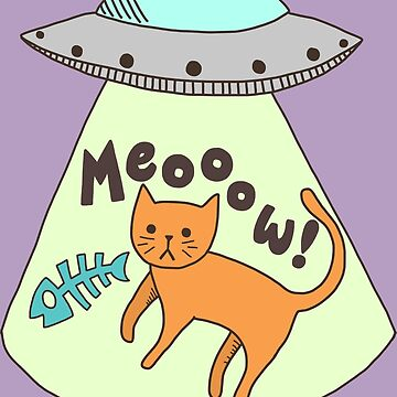 Funny Cat UFO Meow Abduction  by TurtlesSoup