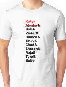 Rupaul's Drag Race Winners With Katya Zamolodchikova Unisex T-Shirt