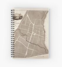 Map of Hartford 1824 Spiral Notebook