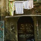 Graffiti Washday in Italy by Christine  Wilson