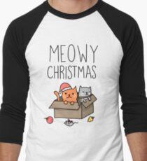 Meowy Christmas Cat Holiday Pun T-Shirt