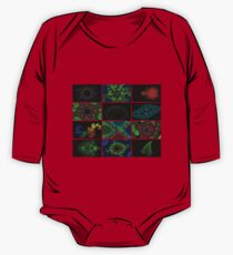 Twelve Fractal Images with Borders (Limited Palette)  One Piece - Long Sleeve