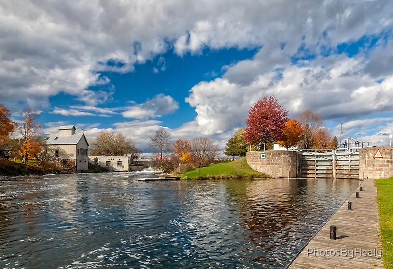The Old Mill and the Locks by Photos by Healy