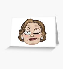 Lucille Bluth Winking from Arrested Development Greeting Card