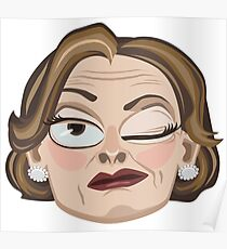 Lucille Bluth Winking from Arrested Development Poster
