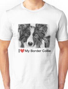 Border Collie Stare Unisex T-Shirt