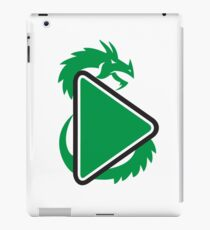 Dragon Play Button Side Retro iPad Case/Skin